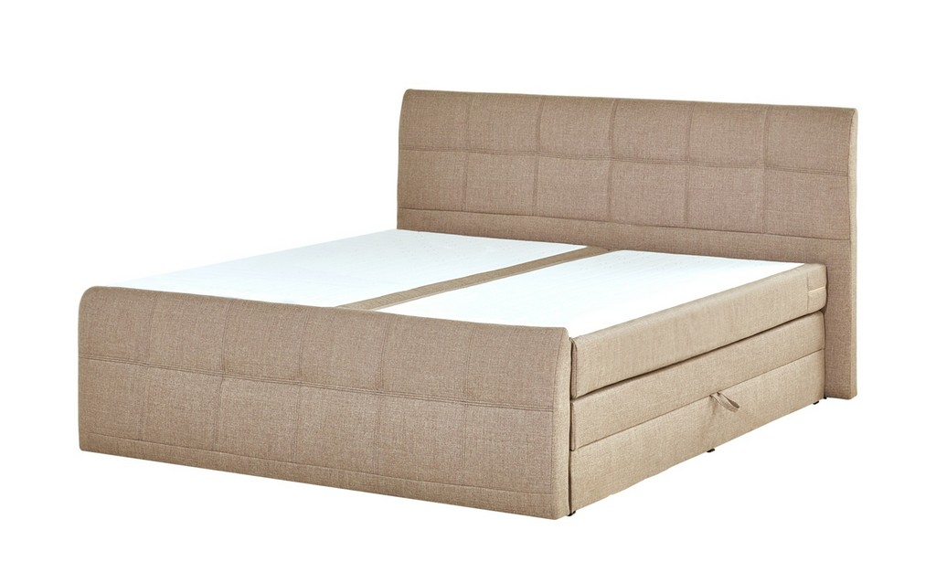 Boxspringbett 180x200 Mit Bettkasten Sand Mbel Kraft pertaining to dimensions 2000 X 1222