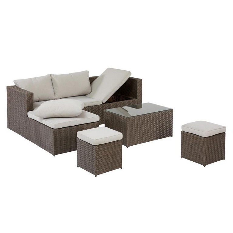 Garten Lounge Set Texas 4 Teilig Braun Dnisches Bettenlager in sizing 960 X 960