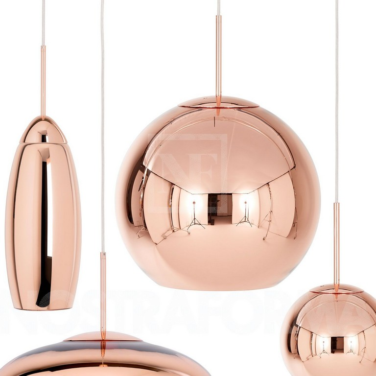 Tom Dixon Copper Round 45 Pendant Lamp Modern And Contemporary intended for size 1400 X 1400