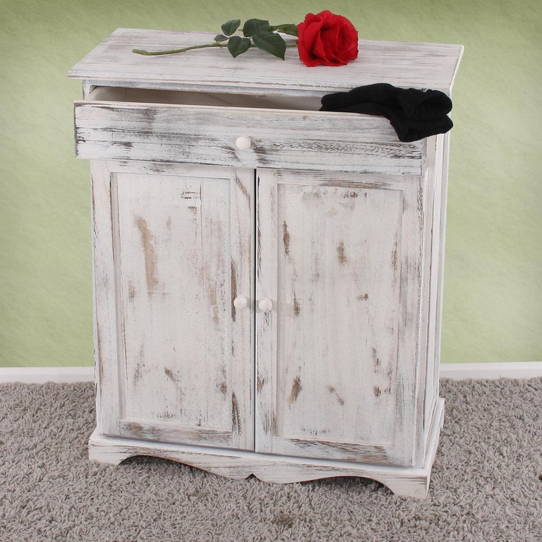 Kommode Schrank 78x66x33cm Shab Look Vintage Wei pertaining to sizing 1200 X 1200