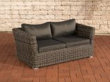 2er Sofa 2 Sitzer Sousse Poly Rattan Braun Meliert Mit Kissen In pertaining to measurements 1200 X 800