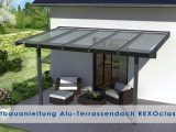 Alu Terrassenberdachung Aufbauanleitung Rexoclassic Version 2018 intended for measurements 1280 X 720