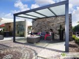 Alu Terrassenberdachung Ee Polycarbonat 500 X 400 Gartenhaus Kingde with regard to measurements 1280 X 853