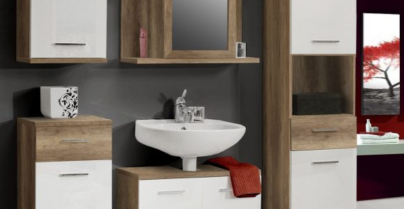 Badmbel Set Eiche Antik Weiss Hochglanz Forte Mbel Champ Holz Modern throughout sizing 1607 X 1800
