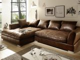 Big Sofa L Form Vintage Wildlederoptik Braun Hannah throughout dimensions 1754 X 1059