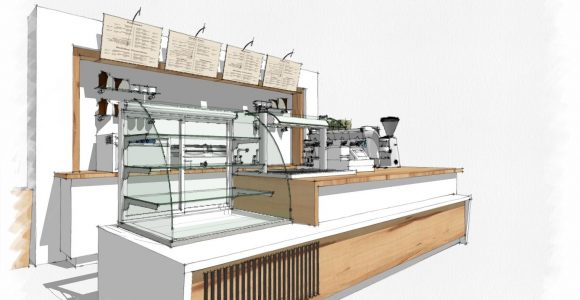 Coffee Bar Sketchup Like The Style Of This Presentation pertaining to proportions 1380 X 911