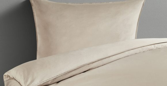 Home Story Satin Bettwsche Stone Washed Beige Reine Baumwolle within measurements 2000 X 1222