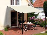 Outsunny Pergola Terrassenberdachung 297x297cm Metall Creme Aosomde intended for proportions 1500 X 1500