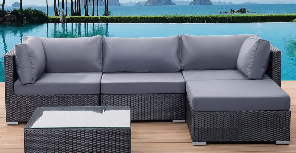 Patio Settee Garden Poly Rattan Lounge Sofa Set Little Big with regard to sizing 1500 X 1200