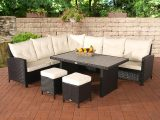 Polyrattan Gartengarnitur Vicenta Garten Sitzgruppe Gartenmbel Set within measurements 1200 X 800