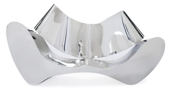 Ron Arad B 1951 D A Mirror Polished Stainless Steel Sofa within proportions 4662 X 2670